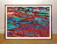 Ocean fish wall art print abstract art fishing art home