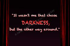 Darkness Goth Quote Art 5x7 Framed by JenniferRoseGallery on Etsy, $20.00