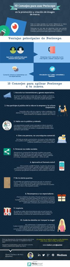 10 consejos para usar Periscope #infografia #infographic #socialmedia   TICs y Formación