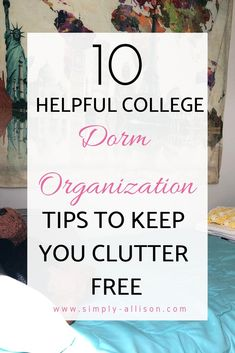 10 Helpful Dorm Organization Tips Ideas 10 Ways to save space in your college dorm. How to organize your dorm room closet. Must needed dorm room essentials to include in your room College Dorm Organization, College Dorm Rooms, Organization Hacks, College Tips, Career College, College Supplies, College Apartments, College Planner, Boston College