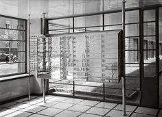 Jan Wedel apartment house, architect Juliusz Żórawski, built between 1935–1936, 28 Puławska Street, mailboxes