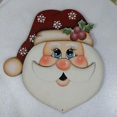 Image may contain: food Christmas Rock, Christmas Projects, All Things Christmas, Holiday Crafts, Santa Paintings, Christmas Paintings, Felt Christmas Decorations, Christmas Ornaments, Xmas