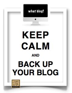 How to Back up Blog