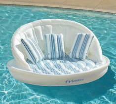 Super comfortable with a wraparound backrest and soft removable cover, the Sofa Pool Float takes backyard relaxation to the next level. Sit back poolside or drift lazily on the water – this float lets you feel luxurious either way. Swimming Pool House, Cool Swimming Pools, Cool Pools, Cute Pool Floats, Pool Floats For Adults, Giant Inflatable Pool Floats, Inflatable Pool Toys, Pool Rafts, Pool Accessories