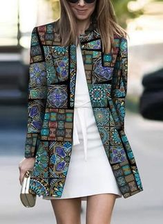 Product Fashion Printed Colour Long Sleeve coat Brand Name Chicokay SKU Gender Women Style Elegant /Fashion/Modern Type coat Material Polyester Fiber Decoration Pure Colour Please Note: All dimensions are measured manually with a deviation of 1 to Fashion Mode, Look Fashion, Winter Fashion, Womens Fashion, Cheap Fashion, Affordable Fashion, Ärmelloser Mantel, Mode Mantel, Coatdress