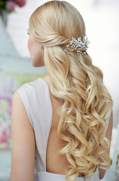Half Up Half Down Wedding Hairstyles For Thin Hair
