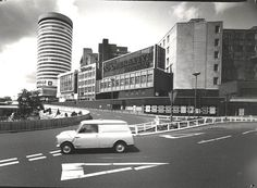 The Rotunda, Birmingham, late 60s. I tell the story of Birmingham's 50s and 60s urban motorway and shopping centre boom in Concretopia. http://amzn.to/17MNhXr