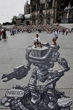 Hawken 3D Street Art at Gamescom by Joe Hill.