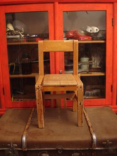 vintage childs chair kids chair wooden chair от OldMoscowVintage