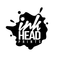Ink Head Prints Splatter LOGO  We are here to create any logo or branding for your company or school!