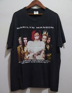 vintage 90s MARILYN MANSON ROCK IS DEAD Tour Concert t-shirt XL  #Winterland #GraphicTee