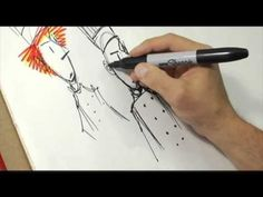 Learn how to draw the fiery superchef Neil Flambé with Kevin Sylvester. Neil Flambé is a wunderchef. Learn To Draw, Bobby Pins, Hair Accessories, Learning, Drawings, Painting, Beauty, Learn Drawing, Sketches