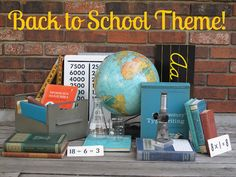 Event Theme: Back to School Tons of ideas of how to decorate with school theme