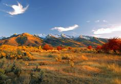 Ruby Mountains in Nevada during the evening. Absolutely lovely.