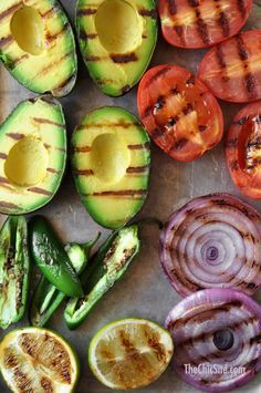 Grilled Guacamole Recipe ~ Put vegetables on the grill to make Grilled Guacamole