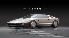 Ghost in the Shell - Batou's Car, Maciej Kuciara on ArtStation at https://www.artstation.com/artwork/2baRa