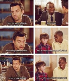 New Girl. I'm pretty much in love Nick Miller.