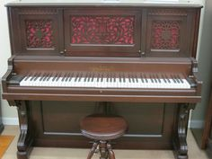 antique pianos chickering | antique chickering upright antique chickering upright antique ...