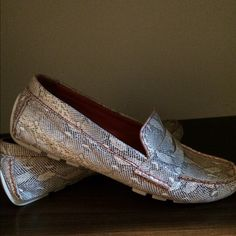 Cole Haan driving mock Snake skin driving mock.  Extremely comfortable and classic. Like new condition Cole Haan Shoes Flats & Loafers