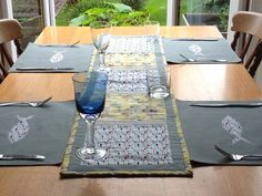 Long Quilted Table Mat or Runner with Seaside Theme £28.00
