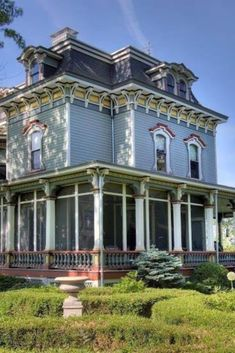 1875 Second Empire For Sale In Hudson New York — Captivating Houses Old Mansions, Mansions For Sale, Victorian Architecture, Classical Architecture, Amazing Architecture, Painted Lady House, Hudson New York, Storybook Homes, Antebellum Homes