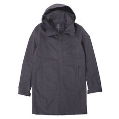 Mission Workshop The Styrman Topcoat - A new take on the classic topcoat, the Styrman from MIssion Workshop is constructed from Swiss-made Schoelle. Mission Workshop, Berlin, Topcoat, Raincoat, Shell, Exterior, Snow, Classic, Fabric