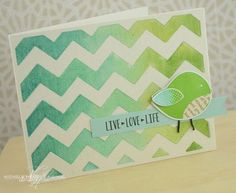 Live Love Life Card by Nichole Heady for Papertrey Ink (June 2013)