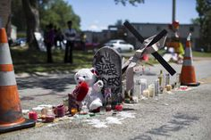 Police let their dog urinate on Michael Brown memorial, then drove over it  A makeshift memorial is pictured where black teenager Michael Brown was shot to death by police last weekend in Ferguson, Missouri August 13, 2014. The police officer involved in the fatal shooting of Brown last weekend in Ferguson, Missouri, an incident
