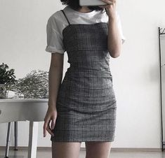 give proper bust and straps. mid-calf - Clothing - Source by grungepinbaby fashion outfits Mode Outfits, Korean Outfits, Grunge Outfits, Fall Outfits, Casual Outfits, Cute Fashion, Asian Fashion, 90s Fashion, Fashion Outfits