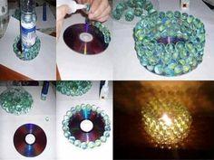 Cómo hacer una lampara con canicas realizando manualidades