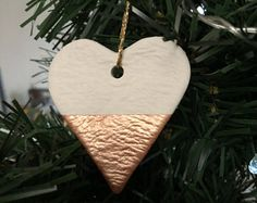 Handmade Heart Decoration / Rose Gold