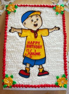 Caillou Birthday | Birthday Cakes Gallery | Best Wishes Cakes