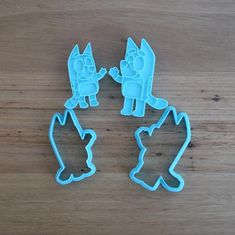 Bluey Cookie Cutter and Fondant Stamp Set Fourth Birthday, Dog Birthday, Birthday Parties, Birthday Ideas, Custom Cookie Cutters, Custom Cookies, Biodegradable Plastic, Biodegradable Products, Peppa Pig Cookie