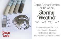 Copic Colour Combo of the week Stormy Weather