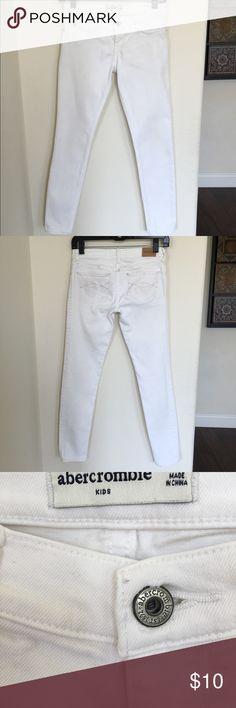 Abercrombie Kids Jeans, Girl's size (14) Abercrombie Kids, Girl's size (14), Jeggings,  White, Like new, Hardly worn. Abercombie Kids Bottoms Jeans