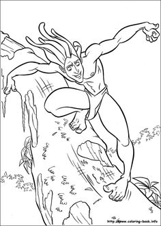 tarzan coloring picture - Aquaman Coloring Pages