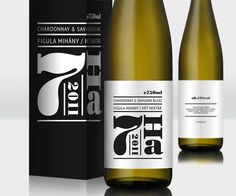 Wine labels for Mihaly Figula's 7 Hektar, designed by Hungary based Kissmiklos.