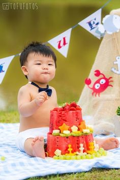 Or make a fruit cake - Birthday Cake Smash Ideas Worth Stealing for Your Little One - Photos