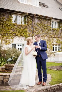 """Laura and Brian take a moment to themselves outside Renvyle House.    """"Forever and Always: Tying the Knot in Connemara"""" 