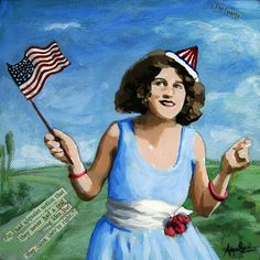 Patriotic Pat  Political humor archival print from by appleart