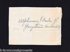 ALPHONSUS DONLON GEORGETOWN UNIVERSITY PRESIDENT ORIGINAL AUTOGRAPH SIGNATURE