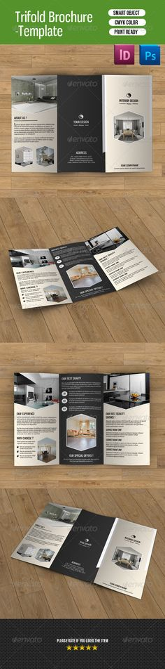 Interior Design Trifold BrochureV  Brochures And Corporate