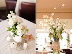 Rustic Beach Wedding Flower Arrangements | The Wedding Specialists
