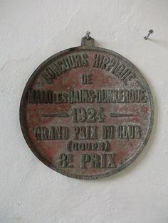 Antique French Equestrian Plaque 1924