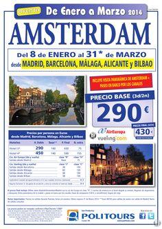 AMSTERDAM, salidas del 23/01 al 31/03 desde Mad, Bcn, Agp, Alc y Bio (3d/2n) precio final 430€ ultimo minuto - http://zocotours.com/amsterdam-salidas-del-2301-al-3103-desde-mad-bcn-agp-alc-y-bio-3d2n-precio-final-430e-ultimo-minuto/