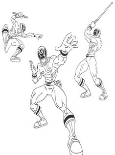 pirate power rangers coloring pages - photo#23