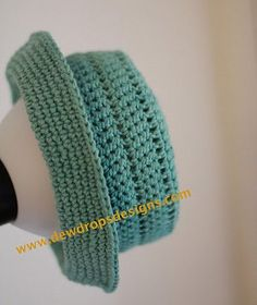 Teal Crochet Hat with Brim