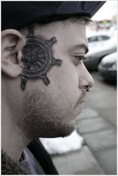 Amazing face tattoo designs: small face tattoo ideas for men ~ tattoo design inspiration Small Tattoos Men, Face Tattoos For Men, Facial Tattoos, Small Tattoos With Meaning, Weird Tattoos, Cool Tattoos, Face Tats, Tatoos, Cross Tattoo Designs