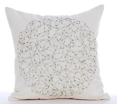 Designer Pearl Cushion Covers Accent Pillow Cover