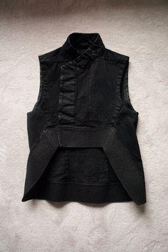 Rick Owens DRKSHDW Sleeveless Jacket Waistcoat Pod Geometric Size M $1500   eBay